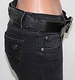 Джинсы женские леггинсы молодежные, серо-черные, колени сеточка, фото 5