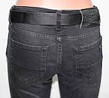 Джинсы женские леггинсы молодежные, серо-черные, колени сеточка, фото 8