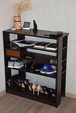 Подставка под обувь или обувница 400 мм очень вместительная и удобная. Ширина 400 мм. 8 пар обуви, фото 3