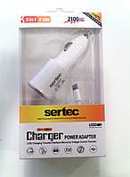 Автомобильное зарядное устройство Sertek для Iphone 5