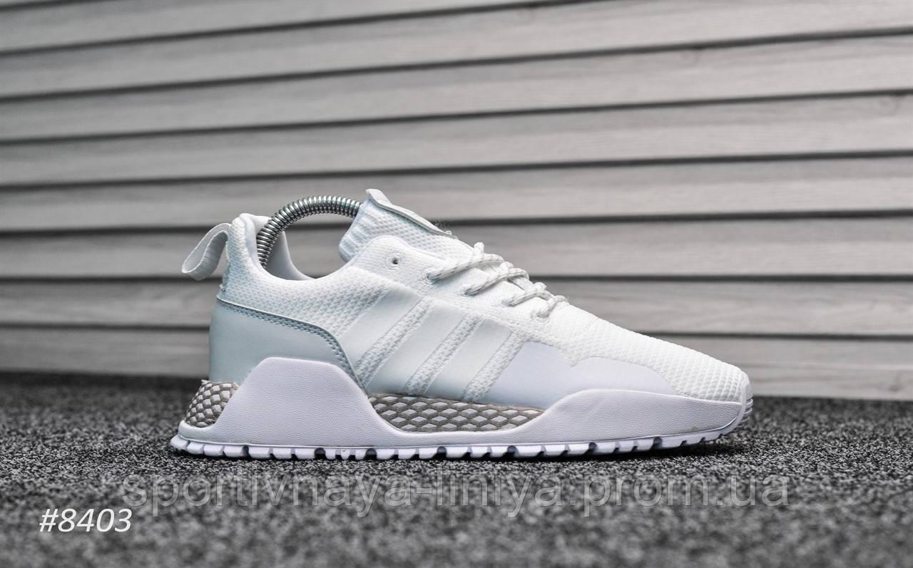 Кроссовки мужские белые Adidas AF 1.4 Primeknit White (реплика)