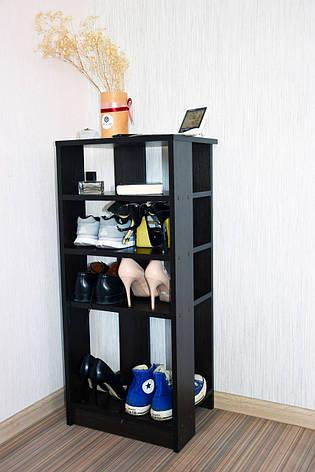 Подставка под обувь или обувница 400 мм очень вместительная и удобная. Ширина 400 мм. 8 пар обуви, фото 2