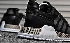 Кроссовки мужские черные Adidas AF 1.4 Primeknit Black White (реплика), фото 2