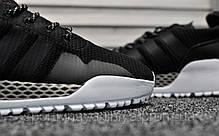 Кроссовки мужские черные Adidas AF 1.4 Primeknit Black White (реплика), фото 3