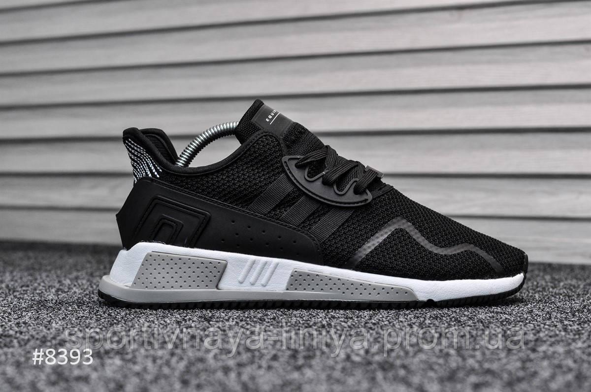 Кроссовки мужские черные Adidas Equipment Black White (реплика)