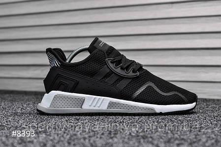 Кроссовки мужские черные Adidas Equipment Black White (реплика), фото 2