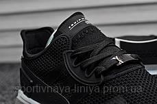 Кроссовки мужские черные Adidas Equipment Black White (реплика), фото 3