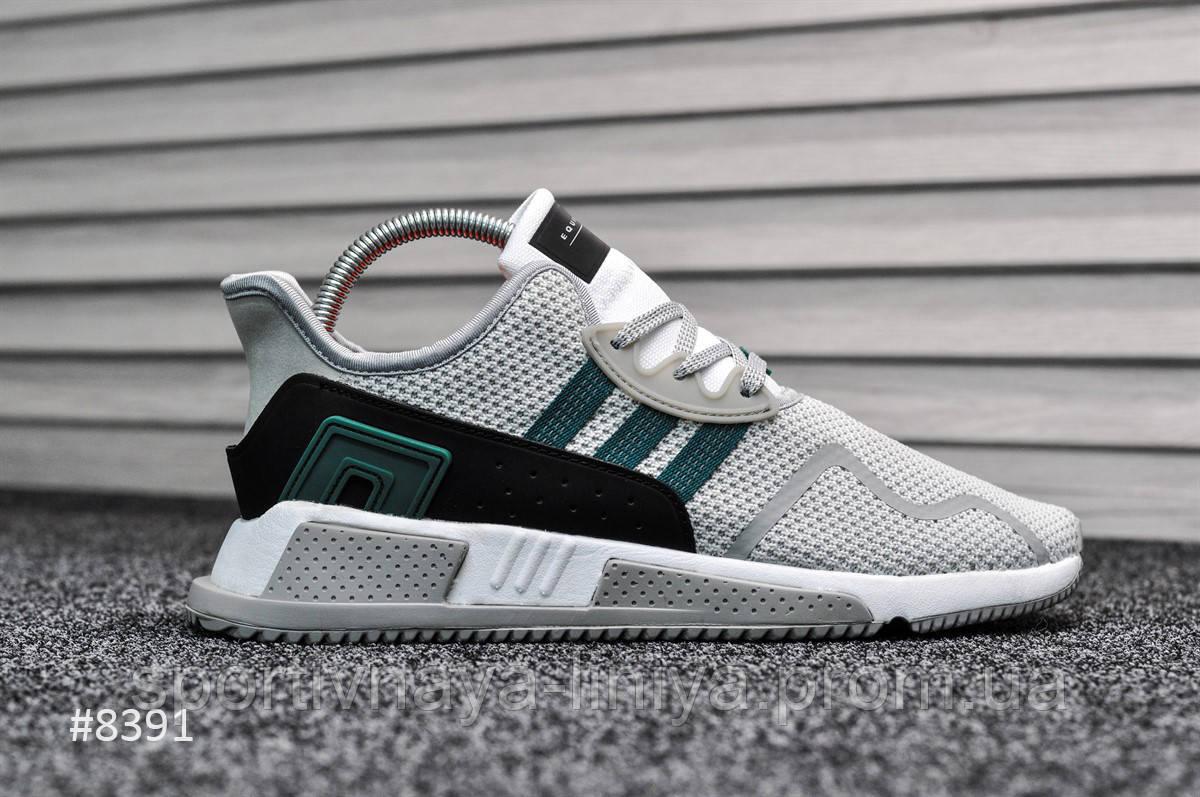 Кроссовки мужские зеленые Adidas Equipment White Green (реплика)