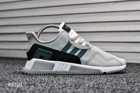 Кроссовки мужские зеленые Adidas Equipment White Green (реплика), фото 2