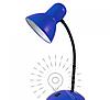 Настольная лампа E27 LMN096 синяя с выключателем