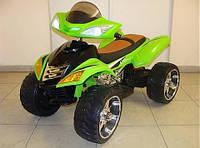 Детский Квадроцикл на аккумуляторе M 3101 EBLR-5, кожаное сиденье, пульт, зеленый.