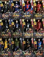 Большие фигурки супергероев 18 на 30 см (Человек паук, Росомаха,Супермен,Бэтмен); Іграшки супергероїв;