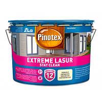 Самоочищающееся лазурное деревозащитное средство Pinotex Extreme Lasur (Снег) 10 л, фото 1
