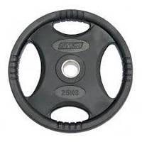 Олимпийский диск 25 кг для штанги 51 мм Stein Black Plate