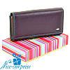 Большой женский кожаный кошелёк Dr. Bond W46 violet (серия Rainbow)
