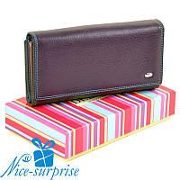 Большой женский кожаный кошелёк Dr. Bond W46 violet (серия Rainbow), фото 1