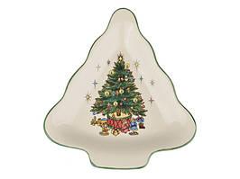 """Блюдо керамическое """"Новогодняя елка"""" 17 см 910-132"""