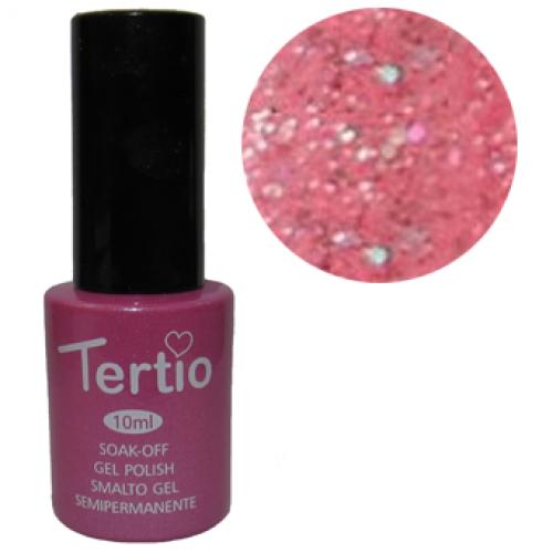 Гель-лак Tertio №171 розовый с блестками 10 мл