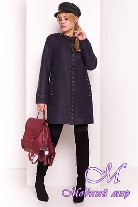 """Женское демисезонное пальто с жемчужинами (р. S, M, L) арт. """"Анси 4544"""" - 21594, фото 2"""