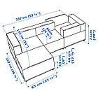 Диван IKEA KUNGSHAMN модульный 3-местный Idekulla розовый 792.513.97, фото 6