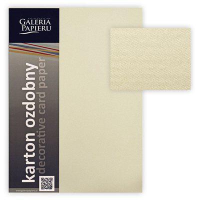 Картон дизайнерский Galeria Papieru ICELAND 220 г/м² А4 20 листов кремовый