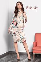 Платье с цветочным принтом ANIS от NOCHE MIO Нарядное праздничное платье.