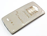 Чехол для LG G Flex 2 силиконовый ультратонкий прозрачный серый