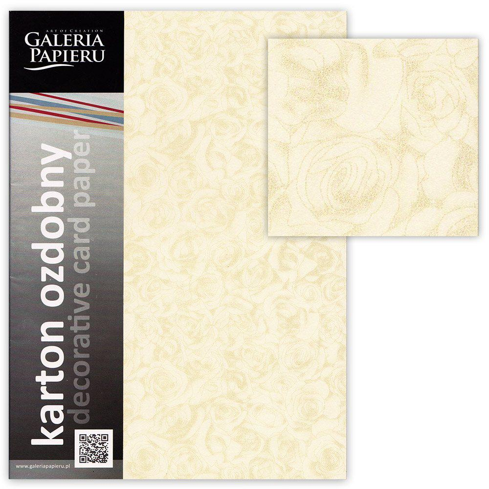 Картон дизайнерский элитный Galeria Papieru ROSES А4 20 листов 250г