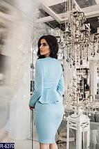 Голубой костюм женский классический, фото 3