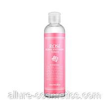 Зволожуючий тонер з рожевою водою Secret Key Rose Floral Softening Toner