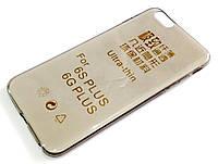 Чехол для iPhone 6 Plus / 6s Plus силиконовый ультратонкий прозрачный серый, фото 1