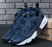 Кроссовки Reebok Insta pump Fury OG Blue white. Живое фото (Реплика ААА+ 2f01b4f53236f