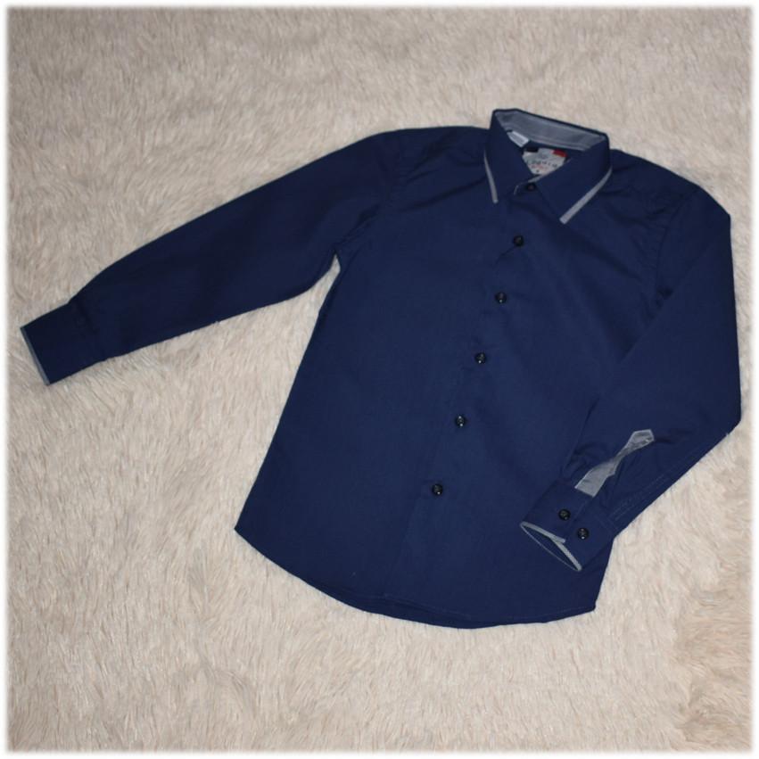 Рубашка школьная на мальчика синяя ТМ Lagard Kids размер 146