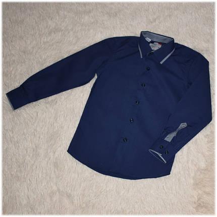 Рубашка школьная на мальчика синяя ТМ Lagard Kids размер 146, фото 2