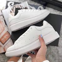Женские кроссовки Adidas Alexander McQueen Oversized Sneaker All White. Живое  фото (Реплика ААА+ 03b24bd474726