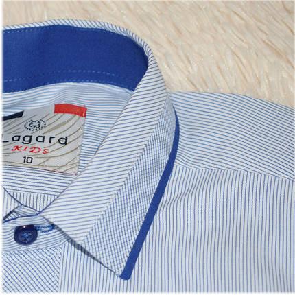Рубашка школьная на мальчика белая в полоску ТМ Lagard Kids размер  140 146, фото 2