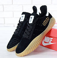 Мужские кроссовки Adidas Kamanda black gum. Живое фото. Топ реплика ААА+