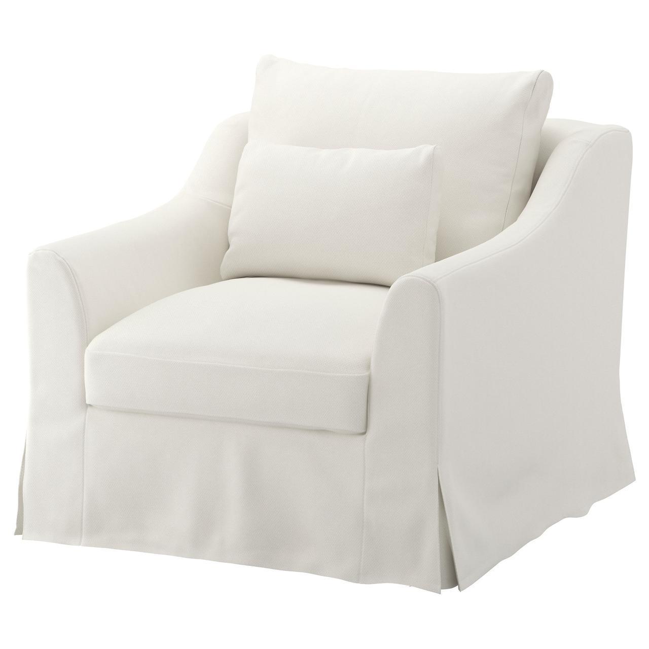 Кресло IKEA FÄRLÖV Flodafors белое 491.917.05