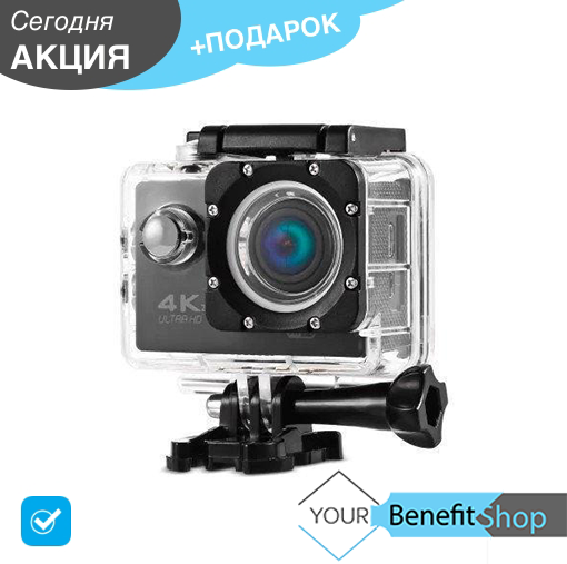 Action camera DVR SPORT S2 Wi-Fi waterprof 4K | Экшн-камера 4К | спортивная водонепроницаемая камера | 7002