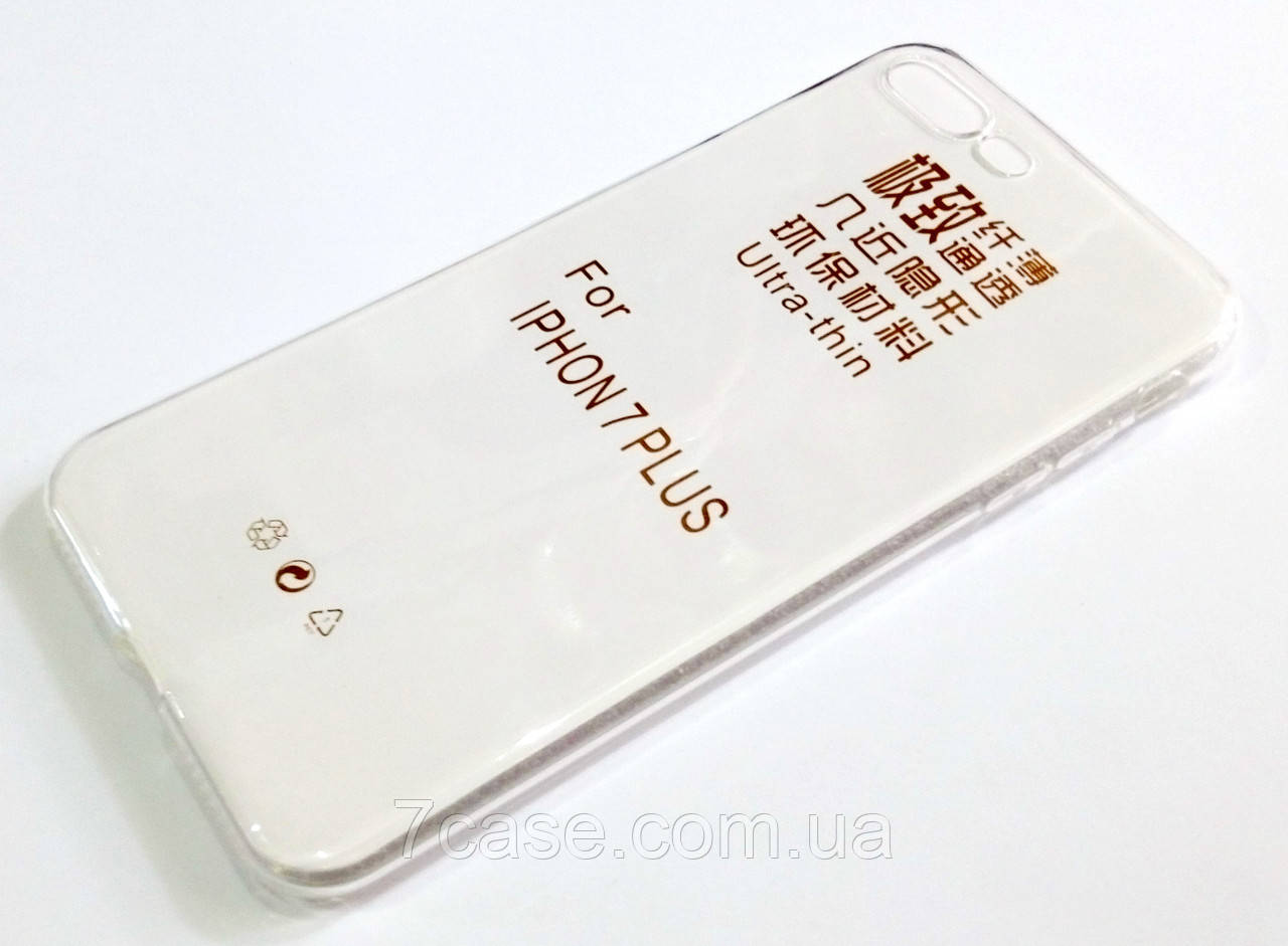 Чехол для iPhone 7 Plus силиконовый прозрачный ультратонкий