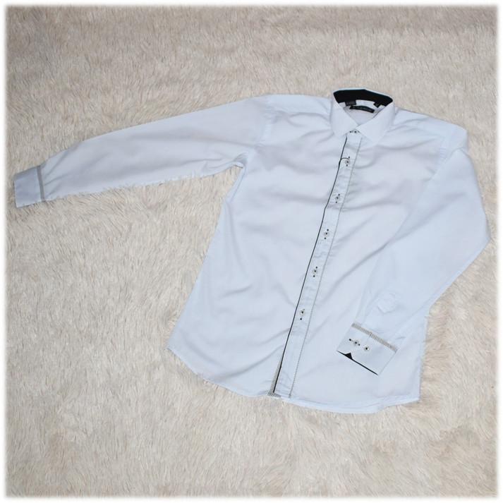 Рубашка школьная на мальчика белая ТМ Lagard Kids размер  134 140 146