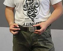 Тактический брючной ремень Oakley с пряжкой tactical olive (Oakley), фото 3