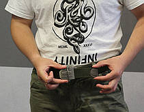 Тактический брючной ремень Oakley с пряжкой tactical olive (Oakley), фото 2