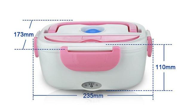 ✅Ланч бокс Розовый судочек термос пищевой электрический с подогревом от 220V Electric Lunch Box 3166YY/ 220V