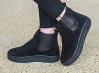 Черевики челсі чорні з натуральної замші зручні і комфортні осінь зима, взуття від виробника харків