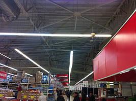 Светодиодное освещение супермаркетов и торговых площадей.Освещение торгового центра.