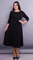 Платье Gloria Romana Кора. Вечернее платье плюс сайз. Черный.