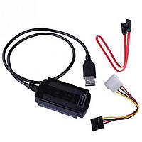 Переходник USB 2.0 to SATA, IDE Atcom CAB-200W power supply
