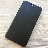 Чехол-книжечка на магните под кожу Samsung Galaxy А5 A500 2015 черный в упаковке