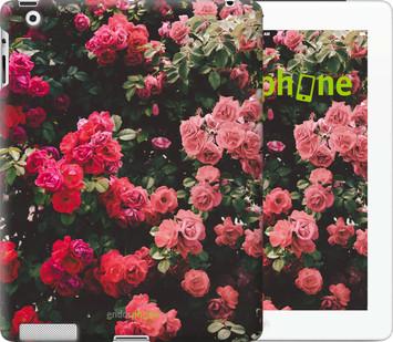 Чехол на iPad 2/3/4 Куст с розами